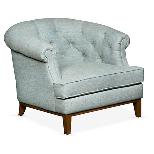 Wilshire Accent Chair, Lake Linen