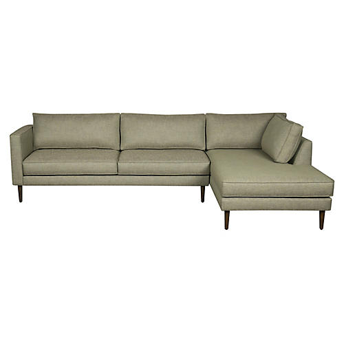 Cheviot Right-Facing Sectional, Olive