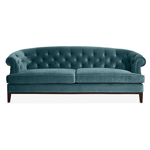 Wilshire Sofa, Bluestone Velvet