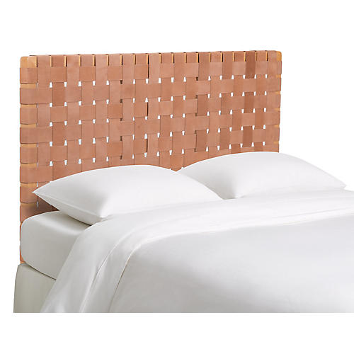 Argos Headboard, Light Saddle Leather