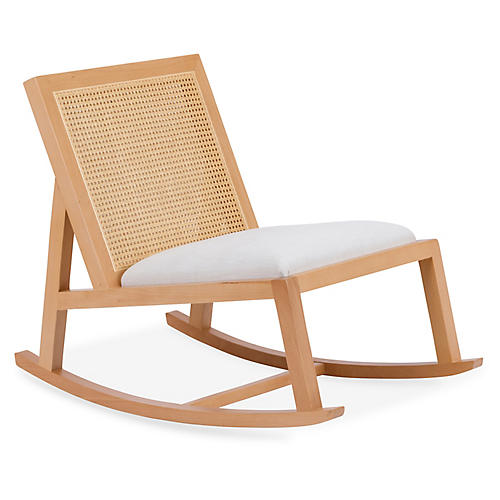 Ashmont Rocking Chair, Ivory Crypton