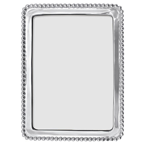 Beaded Frame, Silver