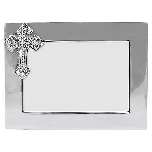 4x6 Cross Frame, Silver