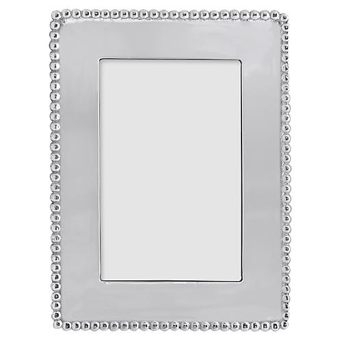 Beaded Vertical Frame, Silver