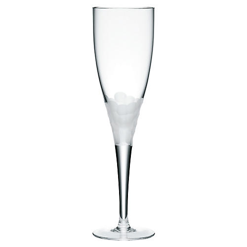 S/4 Paillette White-Wine Glasses, Clear