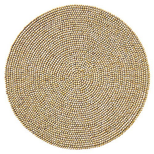 S/4 Round Place Mats, Natural