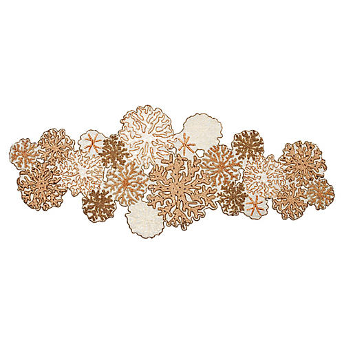 Coral Table Runner, Ivory/Beige