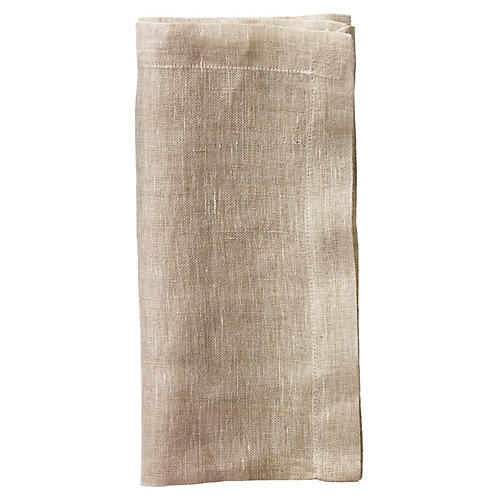 S/4 Gauze Dinner Napkins, Natural