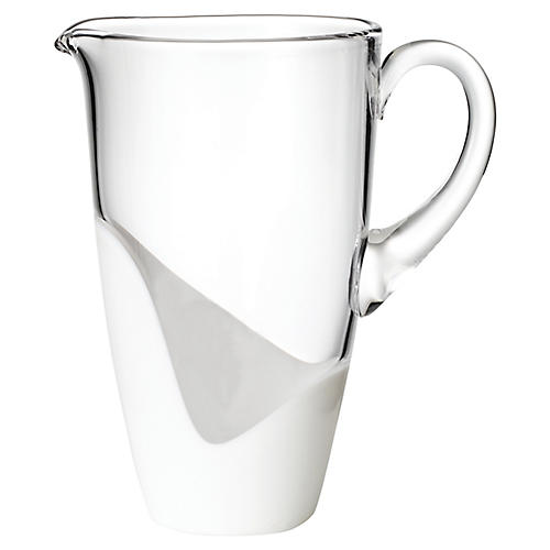 Vague Pitcher, Clear/White