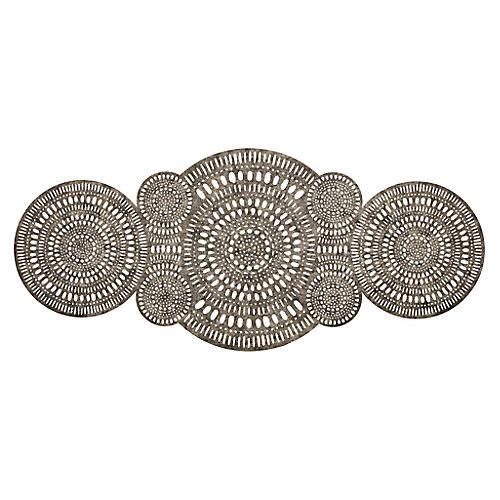 Mandala Runner, Gold/Silver