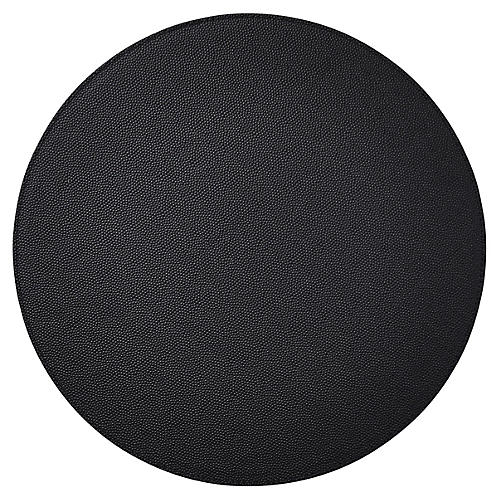 S/4 Faux-Shagreen Place Mats, Black