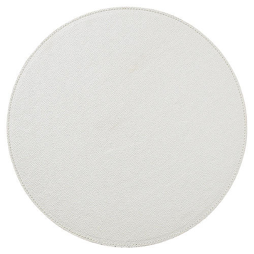 S/4 Faux-Shagreen Place Mats, Pearl