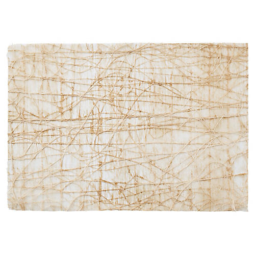 S/12 Tangle Place Mats, Natural