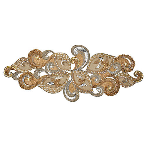 Frieze Table Runner, Gold/Silver