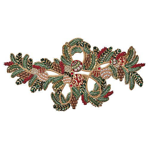 Mistletoe Table Runner, Red/Green