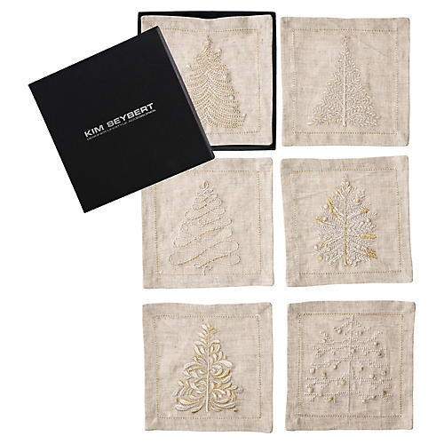 Asst. of 6 Wonderland Cocktail Napkins, Multi