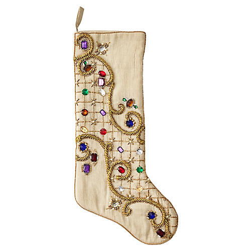 "20"" Ritz Stocking, Gold/Multi"