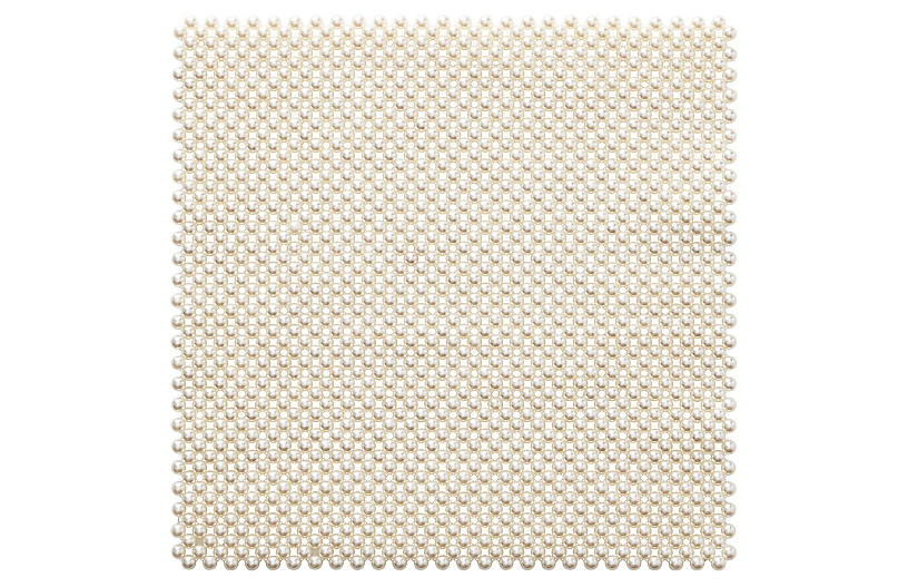 S/4 Pearl Place Mats, Ivory