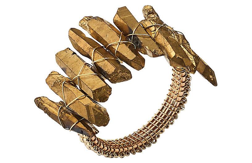S/4 Radiant Napkin Rings, Gold