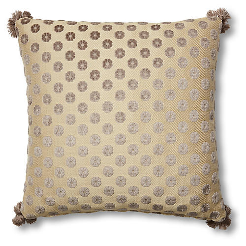 Harper 19x19 Pillow, Taupe Floral
