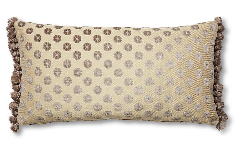 Harper 12x23 Lumbar Pillow, Taupe Floral