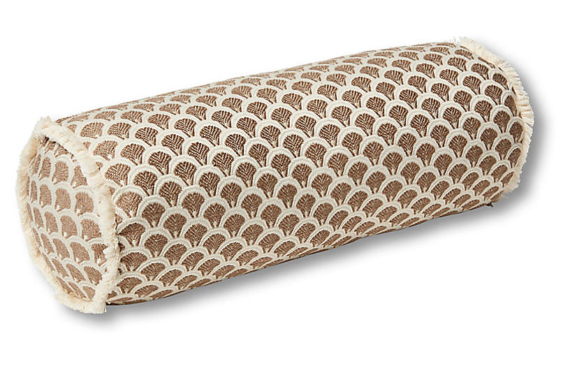 Willow 7x20 Bolster Pillow, Yellow/Ivory