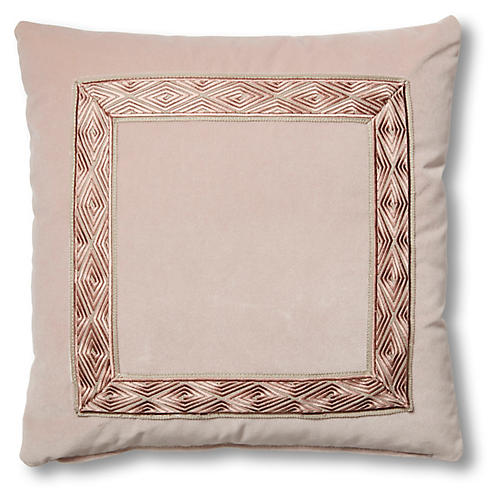 Evelyn 19x19 Pillow, Mauve Velvet