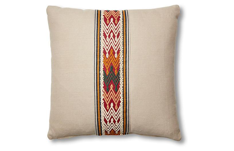 Florence 19x19 Pillow, Dune Linen