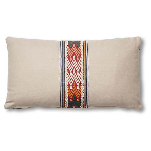 Florence 12x23 Lumbar Pillow, Dune Linen