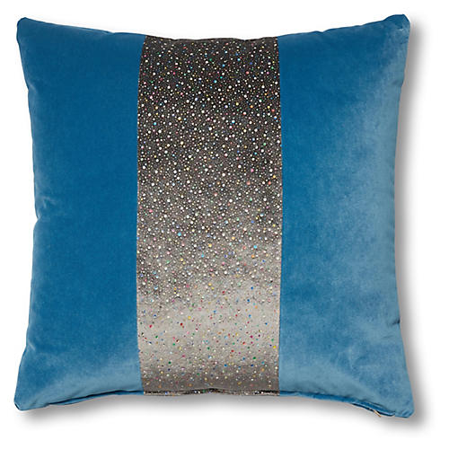 Alyssa 19x19 Pillow, Celestial Stripe