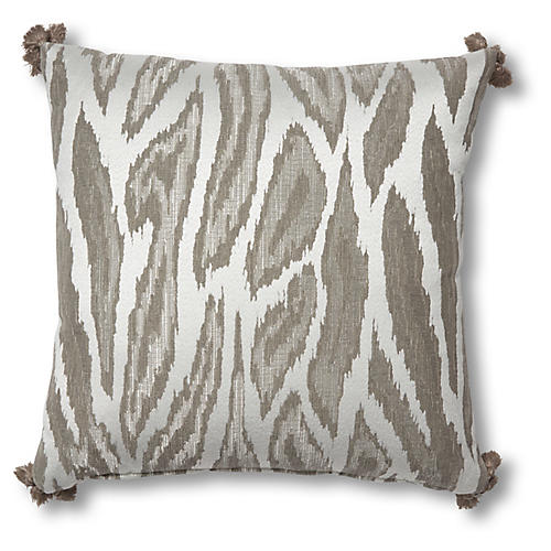 Darcie 19x19 Pillow, White/Gray