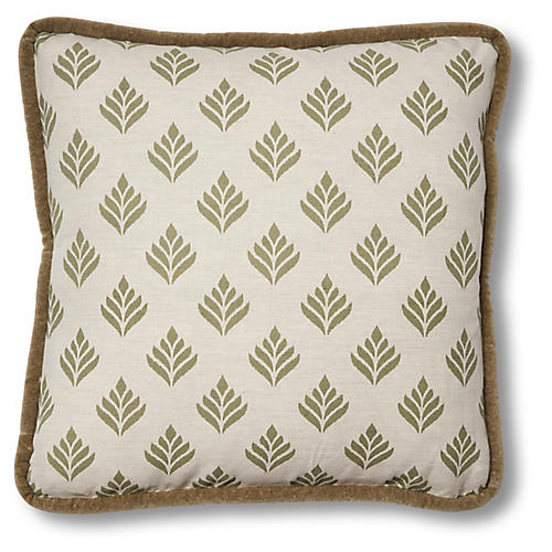 Georgia 19x19 Pillow, Dusty Green Linen