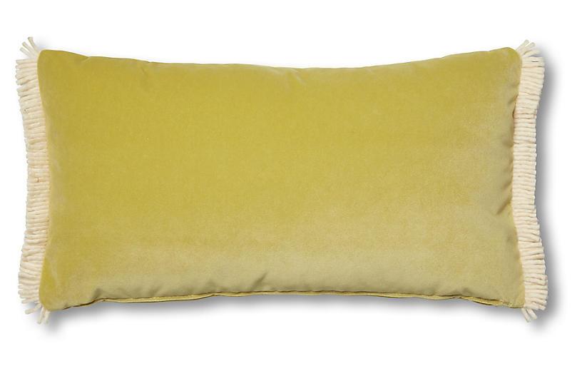Kemper 12x23 Lumbar Pillow, Chartreuse Velvet