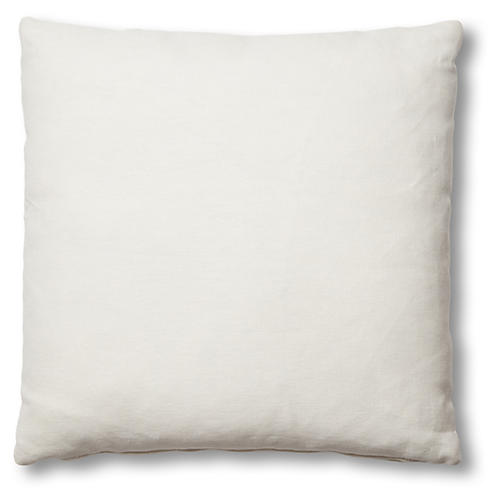 Hazel Pillow, White Linen