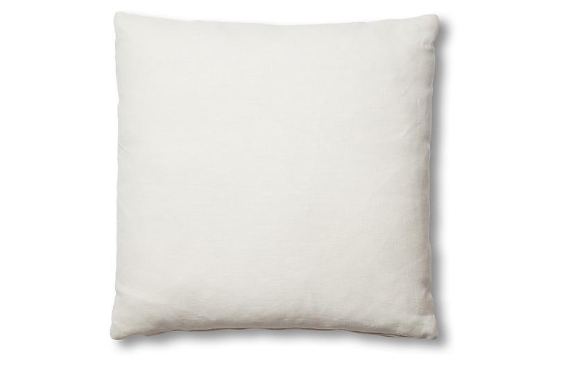 Hazel Pillow, White Linen