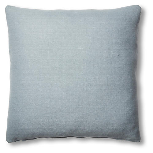 Hazel Pillow, Smoky Blue Linen