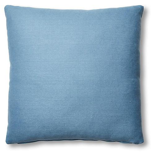 Hazel Pillow, Chambray Linen