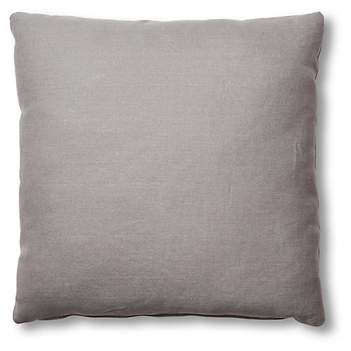 Hazel Pillow, Light Gray Linen