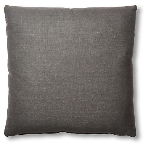 Hazel Pillow, Charcoal Linen