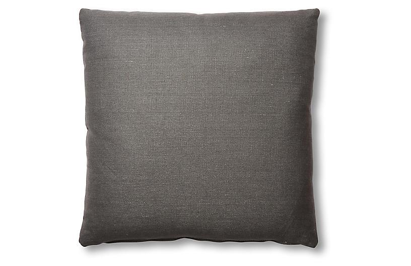 Hazel Pillow, Charcoal Linen