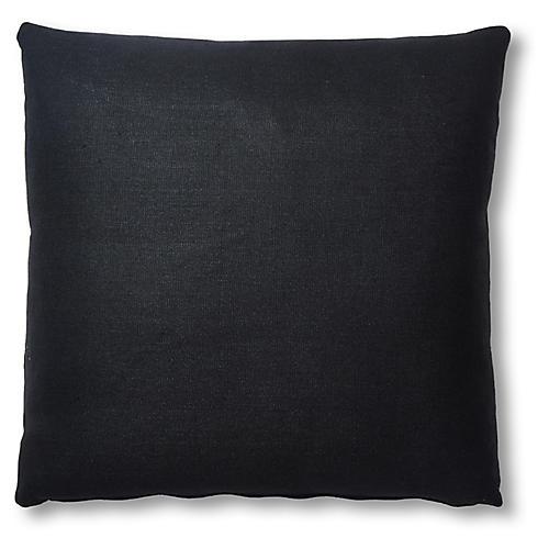 Hazel Pillow, Black Linen