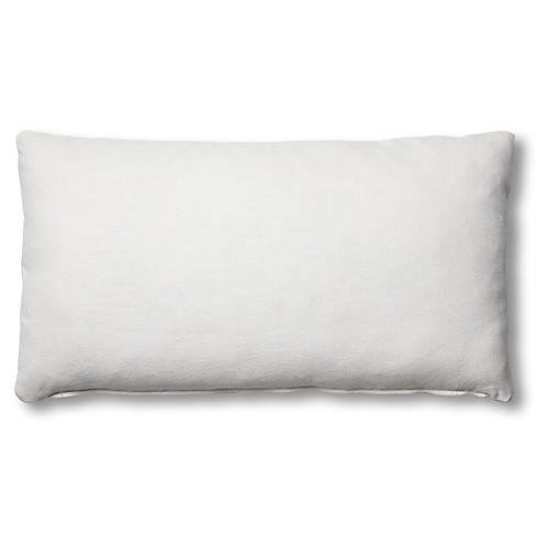 Ada Long Lumbar Pillow, White Linen