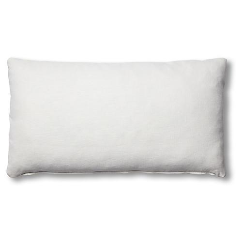 Ada Long Lumbar Pillow, White Linen