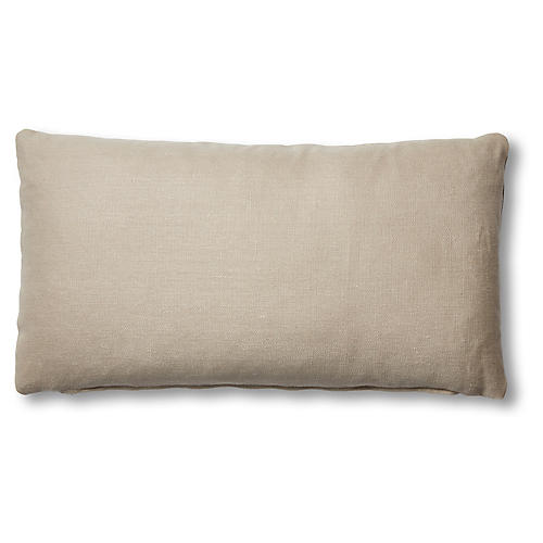 Ada Long Lumbar Pillow, Dune Linen