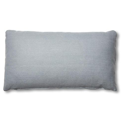 Ada Long Lumbar Pillow, Smoky Blue Linen