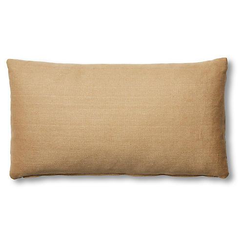 Ada Long Lumbar Pillow, Camel Linen