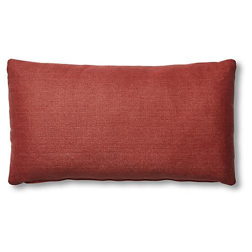 Ada Long Lumbar Pillow, Rust Linen