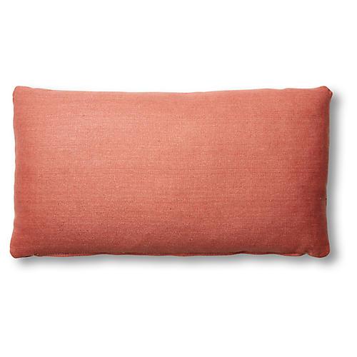 Ada Long Lumbar Pillow, Rose Linen