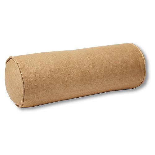 Anne Bolster Pillow, Camel Linen