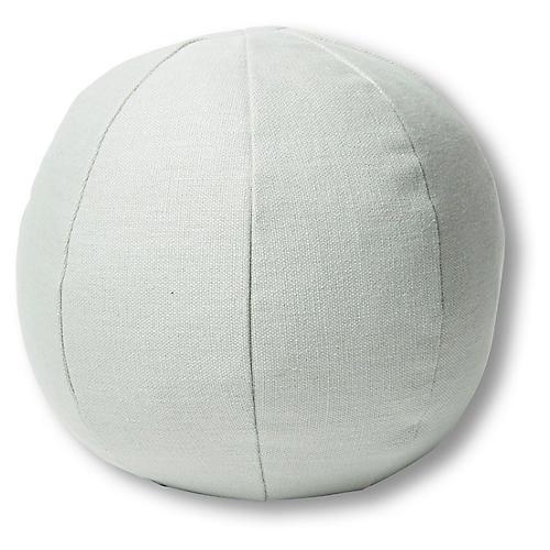 Emma 11x11 Ball Pillow, Sea Glass Linen
